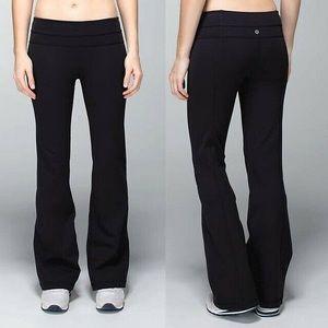 LULULEMON | Flared Leggings Yoga Pants Black Wide